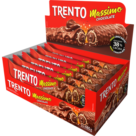 Trento Massimo Chocolate 480g (16un x 30g)