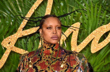 Erykah Badu attending the Fashion Awards 2017, in partnership with Swarovski, held at the Royal Albert Hall, London. Picture Date: Monday 4th December, 2017
