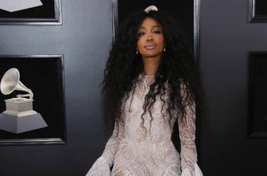 SZA arrives at the GRAMMY Awards in New York City