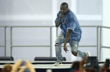 Kanye West performs during the closing ceremony for the 2015 Pan Am Games at Pan Am Ceremonies Venue.