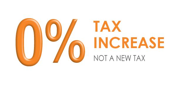 0% Tax Increase