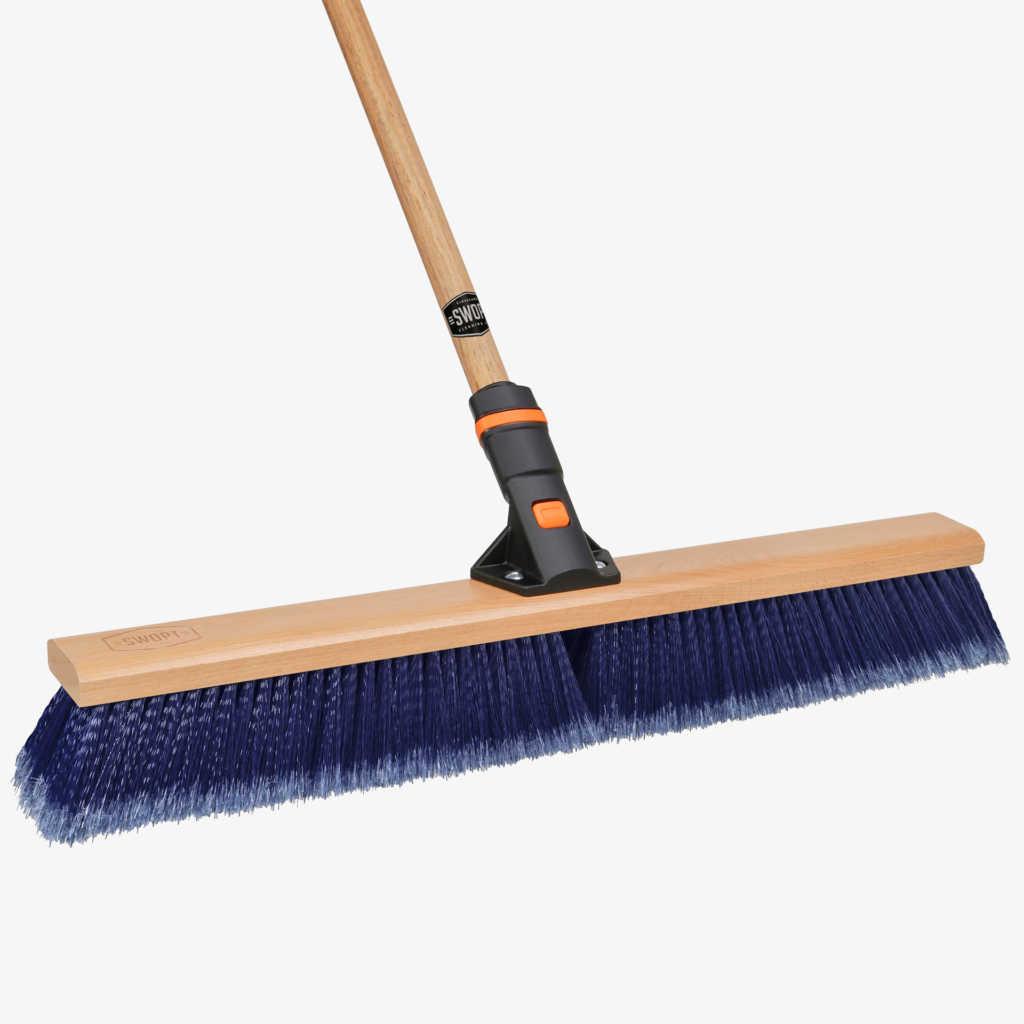 SWOPT Cleaning | 24 in. Multi-Surface Push Broom Combo - Premium