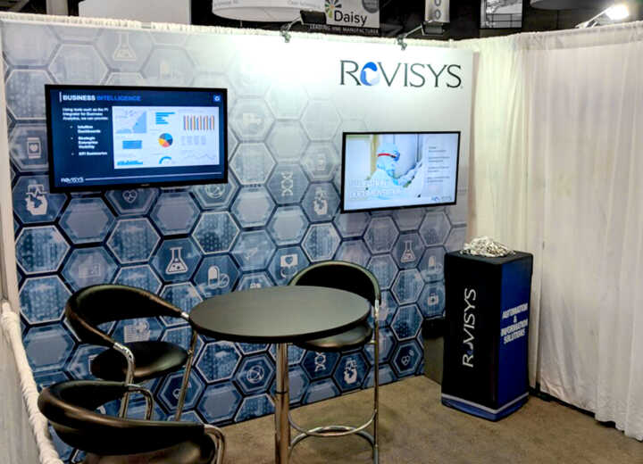 Rovysis exhibited in an inline perimeter booth at INTERPHEX