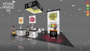 This is a front view of the 20x30 rogers virtual trade show booth.