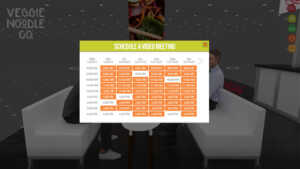 This shows how you can schedule a video meeting from the 20x30 rogers virtual trade show exhibit.