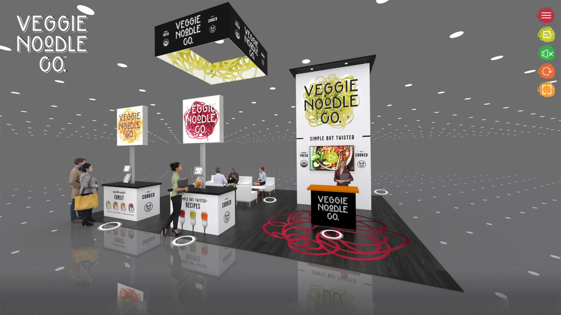 The Rogers Company offers 20x20 virtual trade show exhibits.