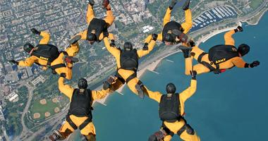 Golden Knights Chicago air and water show