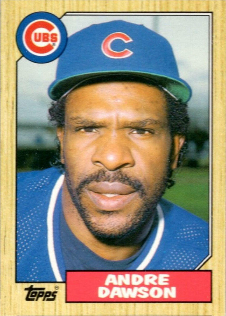 "Beckett Baseball editor Mike Payne: ""Isn't that a great looking card?  I love the wood border, and whenever I think of the '80s, this is the first card that I think of, this set, this '87 set.  The Hawk won the MVP with a last-place Cubs team, which is sa"