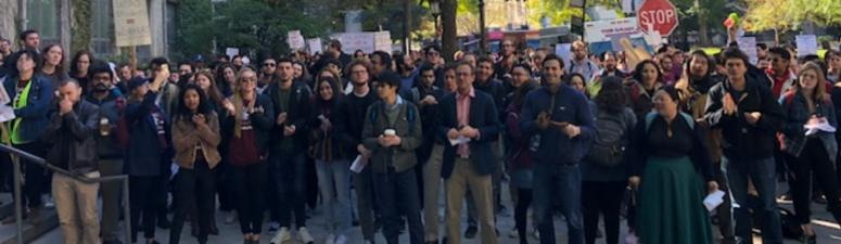 University Of Chicago Graduate Student Workers Stage Walkout Demanding Unionization