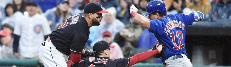 Schwarber Hits 2 HRs As Cubs Beat Indians In Series Rematch
