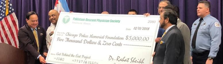 CPD Receive $5K Donation From Physician Organization In Honor Of Mercy Victims