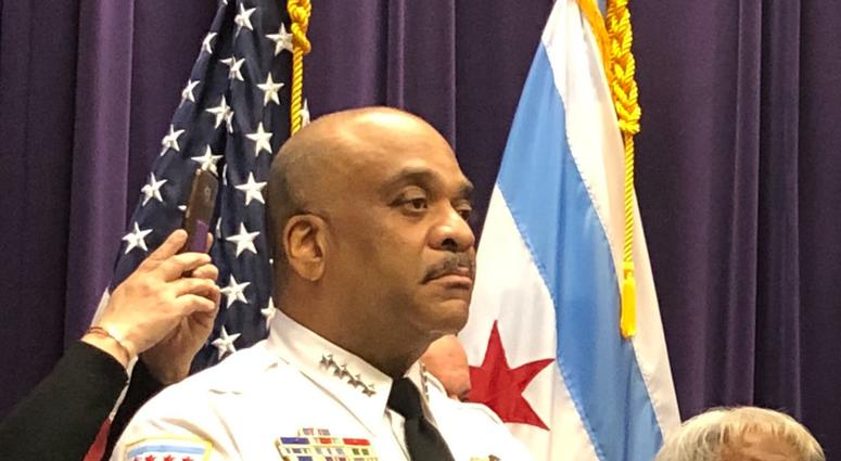 Chicago Police Supt. Eddie Johnson, Mayor Rahm Emanuel