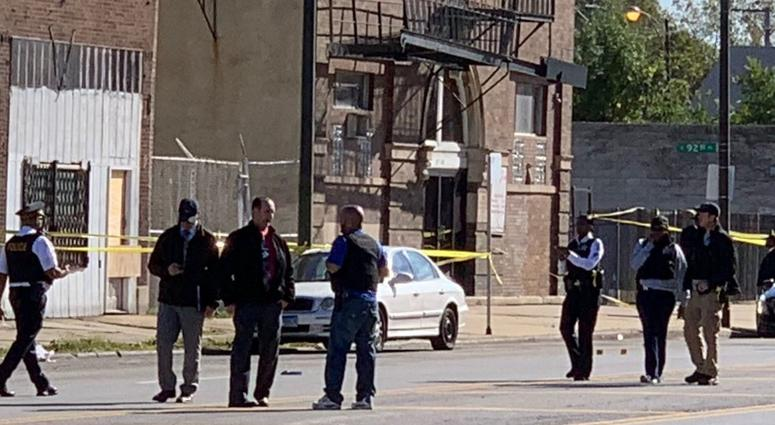 Four people were shot during a funeral procession in Burnside.