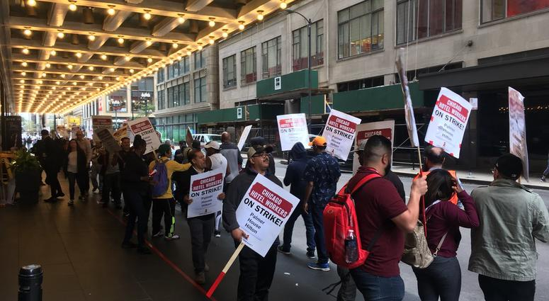 Chicago hotel workers strike