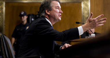 Supreme Court nominee Judge Brett Kavanaugh testifies during the Senate Judiciary Committee, Thursday, Sept. 27, 2018 on Capitol Hill in Washington. (Tom Williams/Pool Image via AP)