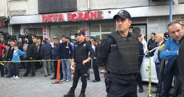 Turkish police cordon off an area close to an underground car park, where a Saudi where authorities earlier found a vehicle belonging to the Saudi Consulate, in Istanbul, Monday, Oct. 22, 2018. Turkish crime-scene investigators have arrived at the park, w