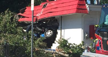 Vehicle Crashes Into Homewood Dairy Queen, Leaving 2 Injured
