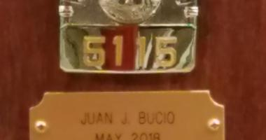 Chicago Fire Department Places Juan Bucio's Badge On Wall Of Honor