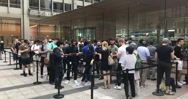 People Line Up Outside Apple Store For The Latest iPhone