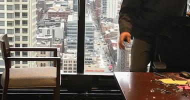 Ice Ball, Shattered Glass Found In Chicago High Rise