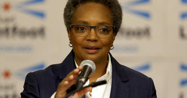FILE - In this May 9, 2018 file photo, former Chicago Police Board President Lori Lightfoot announces her bid for mayor of Chicago at the Hyatt Regency Chicago. Reform has long been a dirty word among Chicago politicians.