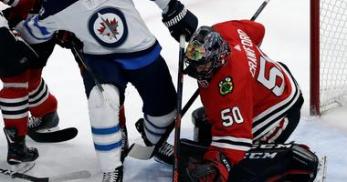 Jets Defeat Blackhawks In Overtime