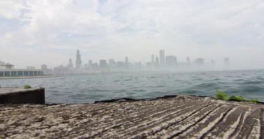 foggy Chicago, skyline, downtown, weather