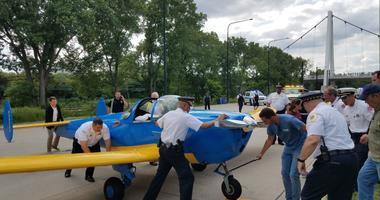 A single-engine plane made an emergency landing on South Lake Shore Drive the afternoon of Friday, July 27, 2018.