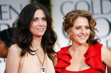 Kristen Wiig, left, and Annie Mumolo at the 69th Annual Golden Globe Awards