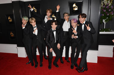 Jin, Suga, J-Hope, RM, Jimin, V, Jungkook, BTS. 61st Annual GRAMMY Awards held at Staples Center