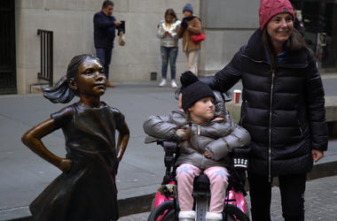 How 6-Year-Old Girl Made 'Fearless Girl' Statue Wheelchair Accessible