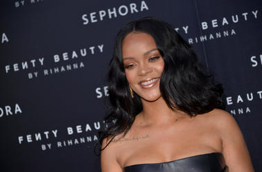 Rihanna attending the Fenty Beauty by Rihanna event in Milan