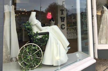 Wedding Dress Boutique Showcases Inclusion With Mannequin in Wheelchair