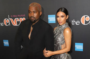 "Kanye West and Kim Kardashian West attend the opening night of ""The Cher Show"" on Broadway at the Neil Simon Theatre in New York."
