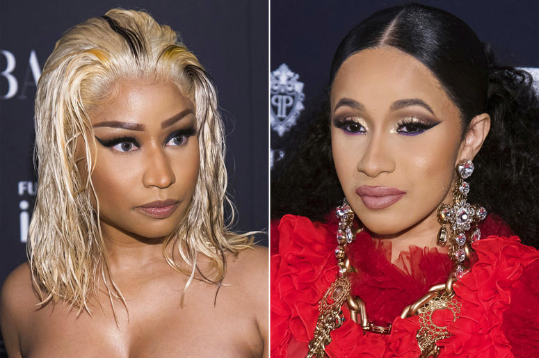 "Nicki Minaj and Cardi B at the Harper's BAZAAR ""ICONS by Carine Roitfeld"" party"