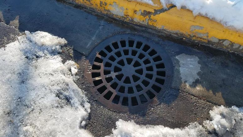 Storm drain doing its work