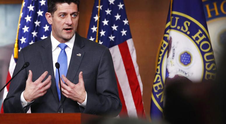 House Speaker Paul Ryan of Wis., announces that he will not run for re-election at the end of his term, Wednesday, April 11, 2018, on Capitol Hill in Washington.
