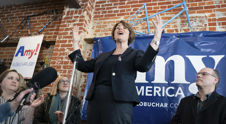 Klobuchar at center stage in New Hampshire town hall on Monday