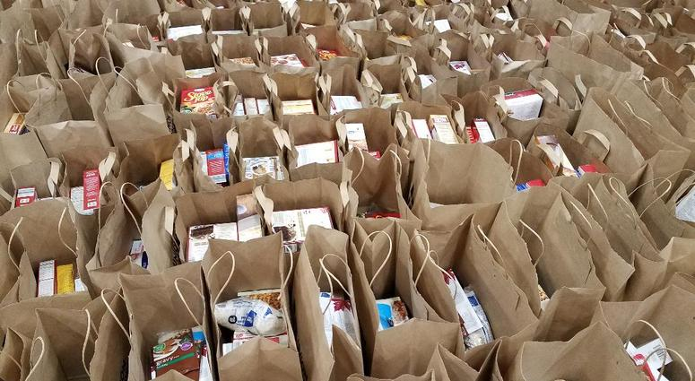 Grocery bags at Union Gospel Mission