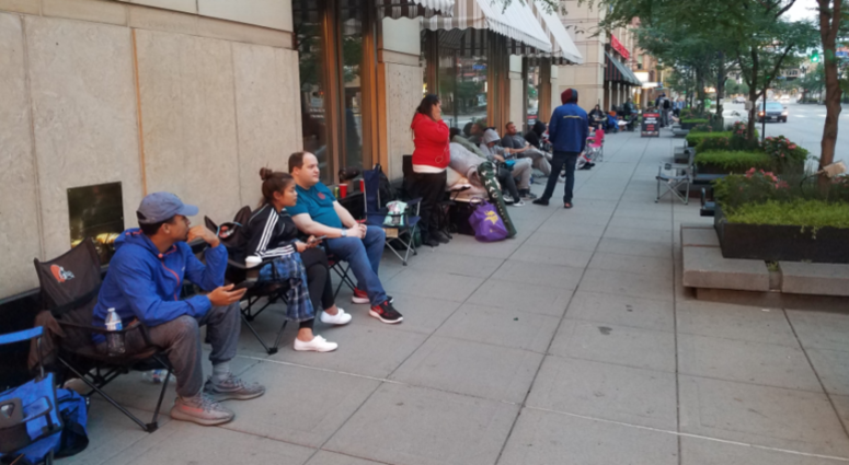Fans of Hamilton wait for tickets to go on sale