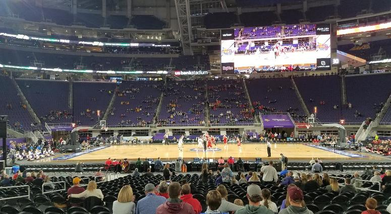 First tip at US Bank Stadium