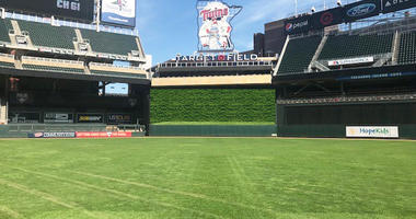 The new batters eye at Target Field