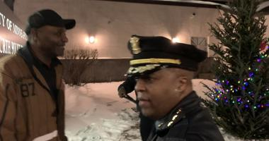 N. Minneapolis community members and Police come together following racist Christmas tree