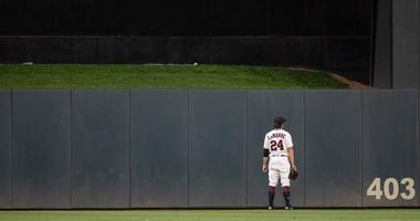 Ryan LaMarre watches Francisco Lindor's go-ahead homer