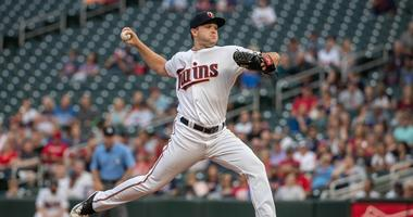 Kohl Stewart pitches for Twins