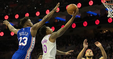 76ers score 83 in 1st half, roll past Timberwolves by 42