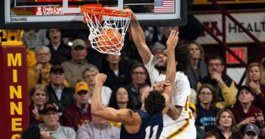 Gopher forward Jordan Murphy with the dunk