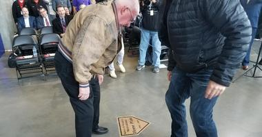 Unveiled home plate marker