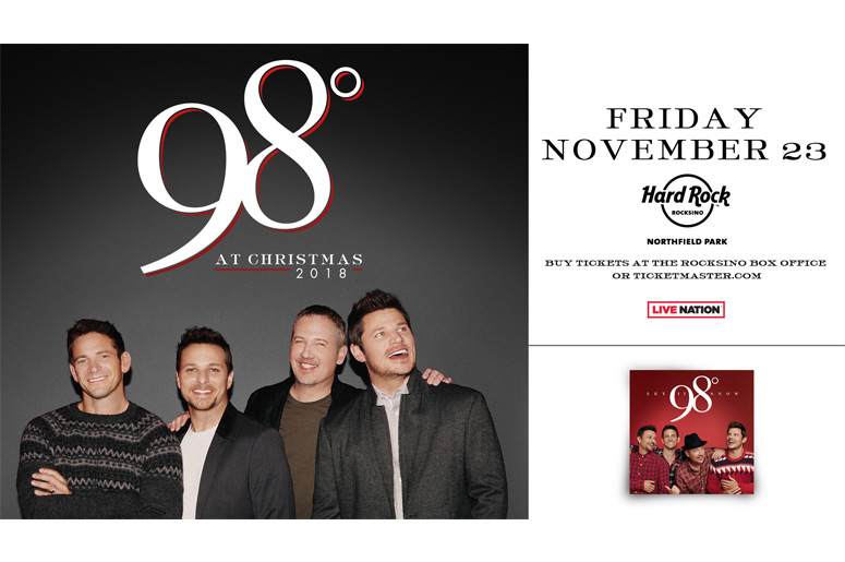 98 degrees announce 2018 christmas tour coming to hard rock rocksino star 102 - 98 Degrees Christmas