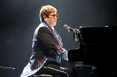 Elton John performs during his 'Farewell Yellow Brick Road tour'